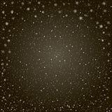 Christmas snowy black background stock illustration