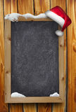Christmas snowy chalkboard royalty free stock photography