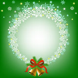Christmas snowy frame Royalty Free Stock Image