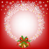 Christmas snowy frame Royalty Free Stock Images