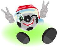 Christmas soccer ball Stock Photos