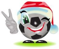 Christmas soccer ball Stock Photo