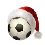 Christmas Soccer Ball Stock Image