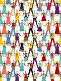 Christmas Social media people pattern background Royalty Free Stock Images