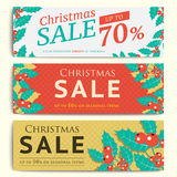 Christmas Social Media Sale Banners For Mobile Website Ad. Xmas Royalty Free Stock Photos