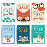 Christmas social media sale banners for mobile website ad. Xmas vector illustration