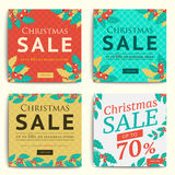 Christmas social media sale banners for mobile website ad. Xmas Royalty Free Stock Image
