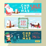 Christmas social media sale banners for mobile website ad. Xmas. Discount background for online shop web page or cell phone. Promotional poster or flyer layout Stock Photography