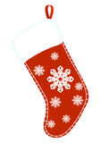 Christmas sock. Red and white gift sock. vector illustration Stock Images