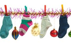 Christmas sock Stock Photography