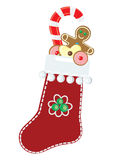 Christmas sock. The image of christmas sock. a vector illustration Stock Images
