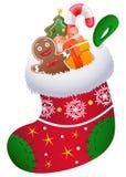 Christmas sock. Illustration of a Christmas sock Stock Photos