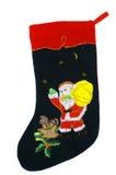 Christmas sock. Magic christmas sock on a white background royalty free stock photo