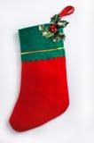 Christmas sock. Hanging on the wall Stock Photo