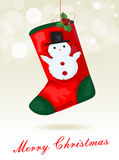 Christmas sock background Royalty Free Stock Images