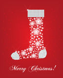 Christmas sock card Stock Image