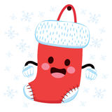 Christmas Sock Character Royalty Free Stock Images