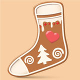 Christmas sock decoration object. Stock Illustration Royalty Free Stock Photo