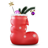 Christmas sock with gifts. 3d. Stock Photo