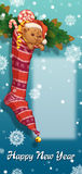 Christmas sock with gifts and toys Stock Image