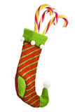 Christmas sock with gifts Stock Photos