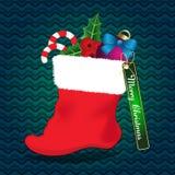 Christmas sock greeting card stock illustration