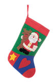 Christmas sock isolated on white background Royalty Free Stock Photos