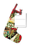Christmas Sock with letter to Santa Claus Stock Image