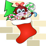 Christmas sock monkey Stock Photo