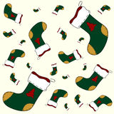 Christmas sock pattern Stock Photography