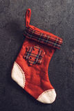 Christmas sock for presents Royalty Free Stock Image