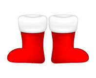 Christmas sock, santa boot icon, symbol, design. Winter vector illustration  on white background. Royalty Free Stock Photos
