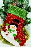 Christmas sock for Santa gifts. Holidays symbol stocking. Christmas holidays concept stock photography