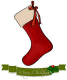 Christmas sock. Royalty Free Stock Image