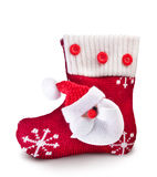 Christmas Sock With Santa Claus. Stock Images