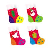 Christmas socking. A series of Christmas socking in Vector, illustration and drawing Stock Photo