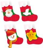 Christmas socking. A series of Christmas socking, vector, illustration, drawing Royalty Free Stock Photos
