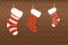 Christmas socks Stock Images
