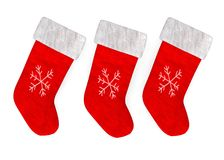 Christmas socks Stock Image