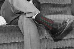 Christmas Socks. A pair of Christmas socks stock photography