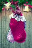 Christmas Socks. Decoration eve festive Royalty Free Stock Photography