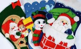 Christmas socks Stock Image