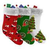 Christmas socks with gifts isolated. See my other works in portfolio Stock Images