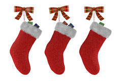 Christmas socks with gifts isolated. See my other works in portfolio Royalty Free Stock Photography