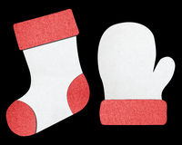 Christmas socks and gloves Royalty Free Stock Images