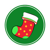 Christmas socks with Merry Christmas red Royalty Free Stock Photos