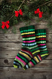 Christmas socks Stock Photography