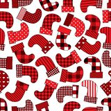 Christmas socks pattern Royalty Free Stock Photo