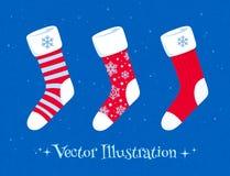 Christmas socks set Royalty Free Stock Photography