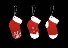 Christmas Socks Stickers Royalty Free Stock Photography